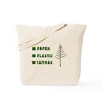 No Paper! No Plastic! Canvas Tote Bag