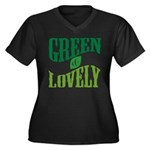 Earth Day : Green & Lovely Women's Plus Size V-Nec