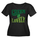 Earth Day : Green & Lovely Women's Plus Size Scoop