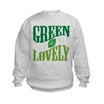Earth Day : Green & Lovely Kids Sweatshirt