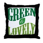 Earth Day : Green & Lovely Throw Pillow