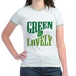 Earth Day : Green & Lovely Jr. Ringer T-Shirt