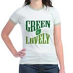 Earth Day : Green & Lovely Jr. Ringer T-Shirt