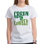 Earth Day : Green & Lovely Women's T-Shirt