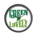 Earth Day : Green & Lovely Wall Clock