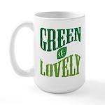 Earth Day : Green & Lovely Large Mug