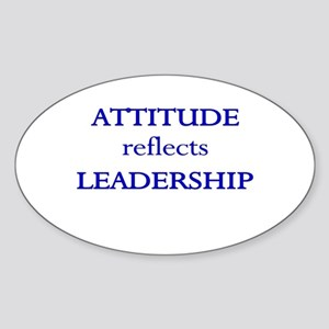 Leadership Attitude Gear Oval Sticker