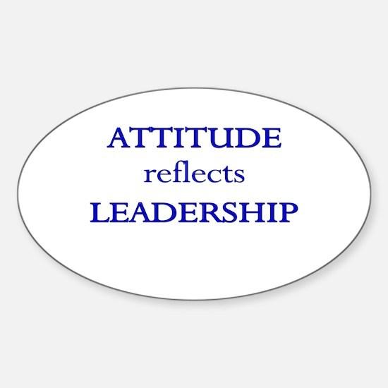 Leadership Attitude Gear Oval Decal