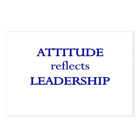 Leadership Attitude Gear Postcards (Package of 8)