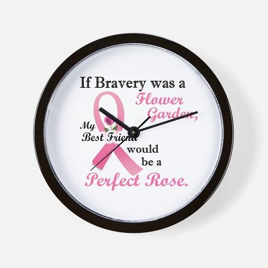 Bravery A Flower Garden 1 (Best Friend) Wall Clock