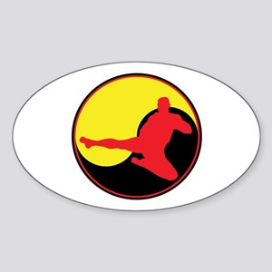 Yin Yang Kicker Oval Sticker