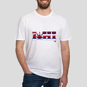 I Love Hawaiian Grass Fitted T-Shirt