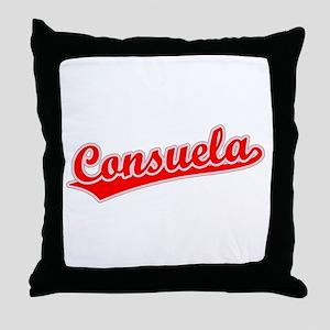 Retro Consuela (Red) Throw Pillow