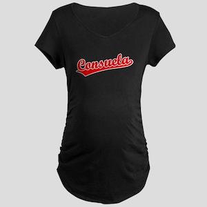 Retro Consuela (Red) Maternity Dark T-Shirt