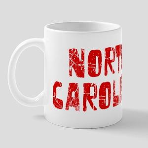 North Carolina Faded (Red) Mug