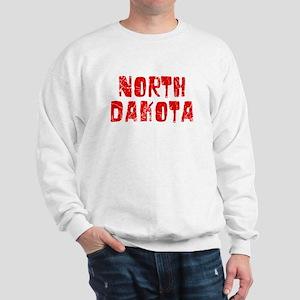 North Dakota Faded (Red) Sweatshirt