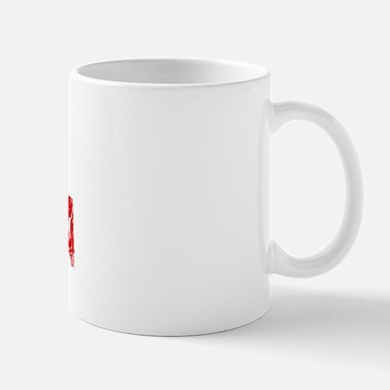 North Dakota Faded (Red) Mug