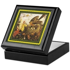 Robin and Fairies - Keepsake Box