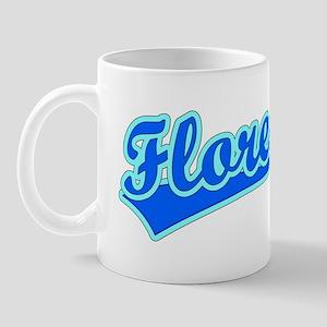 Retro Flores (Blue) Mug
