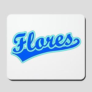 Retro Flores (Blue) Mousepad