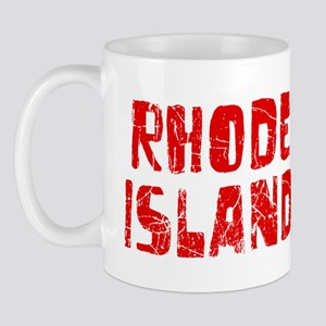 Rhode Island Faded (Red) Mug