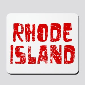 Rhode Island Faded (Red) Mousepad