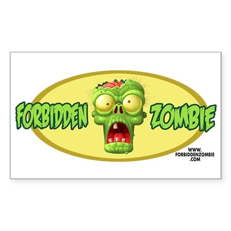 Forbidden Zombie Rectangle Sticker