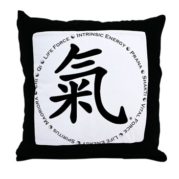 Encircled by Chi Throw Pillow