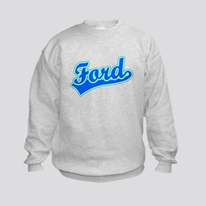 Retro Ford (Blue) Kids Sweatshirt