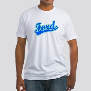 Retro Ford (Blue) Fitted T-Shirt