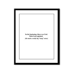In the Beginning Framed Panel Print