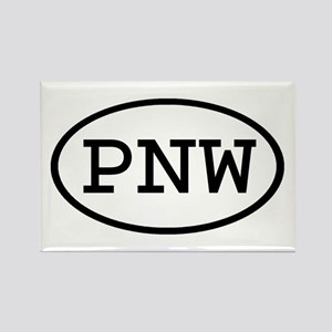 PNW Oval Rectangle Magnet