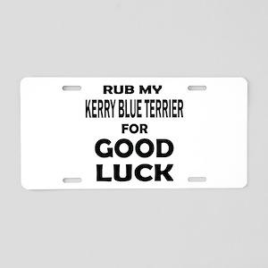 Rub My Kerry Blue Terrier D Aluminum License Plate