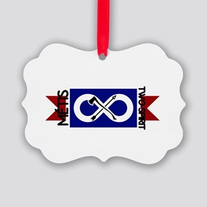 Metis Two Spirit Picture Ornament