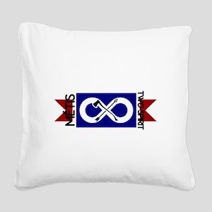 Metis Two Spirit Square Canvas Pillow
