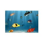 Oceans Of Fish Rectangle Magnet (10 pack)