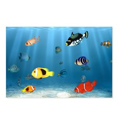 Oceans Of Fish Postcards (Package of 8)