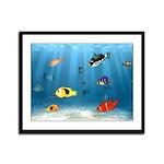 Oceans Of Fish Framed Panel Print