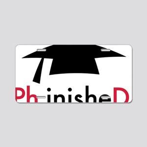 Phinished Aluminum License Plate