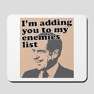 My enemies list Mousepad