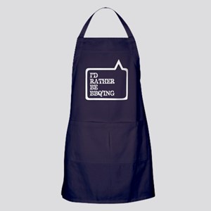 I Did Rather Be BBQ'ing Barbecue Apron (dark)