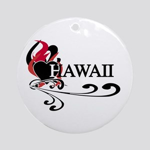 Heart Hawaii Ornament (Round)