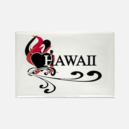 Heart Hawaii Rectangle Magnet