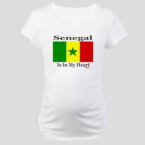 Senegal - Heart Maternity T-Shirt