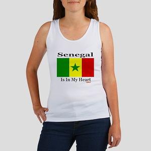 Senegal - Heart Women's Tank Top