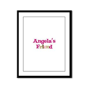 Angela's Friend Framed Panel Print