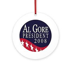 Al Gore 2008 Xmas Tree Ornament