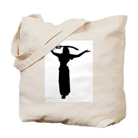 Sword Balance Head Silhouette Tote Bag