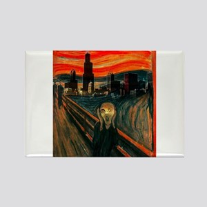 The Scream Series Rectangle Magnet