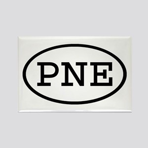PNE Oval Rectangle Magnet